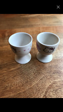 SANRIO HELLO KITTY pair of eggcups egg cups SET NEW kawaii ceramic