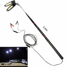 Telescopic Rod Dual LED Camping Lamp Light Self-Drive BBQ Party Night Lantern