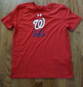 New under Armour washington nationals t-shirt size yxl (youth XL) free shipping