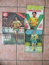 Lot magazine ONZE n° 52 57 + BUT 1102 F.C NANTES vintage poster BERTAND-DEMANES