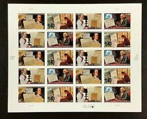 4021-4024 Benjamin Franklin MNH 39 c sheet of 20 FV $7.80. Issued 2006