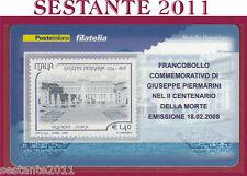 TESSERA FILATELICA FRANCOBOLLO COMMEMORATIVO GIUSEPPE PIERMARINI 2008 M6