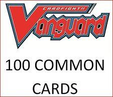 Bulk Lot of 100 Random Cardfight Vanguard Common cards NM/Mint Wholesale