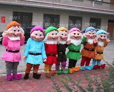 7pcs Seven Dwarfs Mascot Costume Bithday party game dress Clothing Adults Size