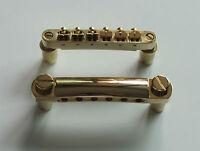 Gold LP Guitar Tune-o-matic Bridge Tailpiece fits Les Paul