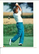 Dave Barr PGA Golf Golfer Canadian Golf HOF World Cup Signed Autograph Photo