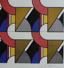 ROY LICHTENSTEIN Modular painting with four Panels w.MAT  PLATE SIGNED