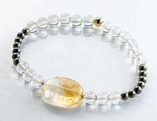 Echtschmuck-Armbänder aus Sterlingsilber mit Citrin-Hauptstein für Damen