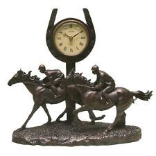 Juliana Bronze Finish Race Horse Mantel Clock / Figurine / Ornament / Sculpture