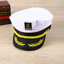 Party Costume Yacht Captain Hat Skipper Sailor Boat Ship Captain Cap White