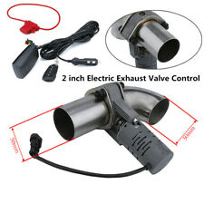 2''Electric Exhaust Valve Control Downpipe Cut Out Catback Wireless Remote Solid