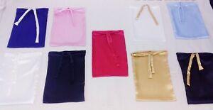 Large Satin Bag 45x33 Cm Gift Drawstring Reusable XXL Pouche Choice of Colours