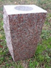 "Granite Vase Morning Rose (5""x4""x9"")"