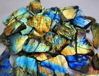 750Cts NATURAL MULTI FIRE SPECTROLITE LABRADORITE ROCK ROUGH SLAB,TILE GEMSTONE