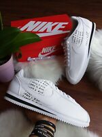 Size 8.5 MEN'S NIKE CLASSIC CORTEZ White/ Black BV8165 100 Casual Running Shoes