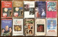 VINTAGE Lot Of 10 CHRISTMAS Cassette Tapes, Nutcracker/Sinatra/Crosby/Frostie
