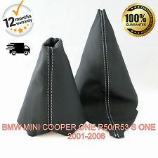 BMW MINI COOPER ONE R50/R53 S 2001-2006 GEAR SHIFT & HANDBRAKE GAITER COVER