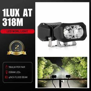 "Pair 4"" Osram LED Work Light Bar Spot Flood Cube Driving Fog Reverse Lamp 4WD"