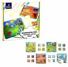 TCM Tchibo Bilderlotto Spiel Legespiel Bilderspiel Kinder Holz Spielzeug 20tlg