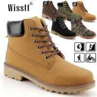 Women's Waterproof Leather Work Water Boot Desert Ankle Outdoor Casual Shoes AU