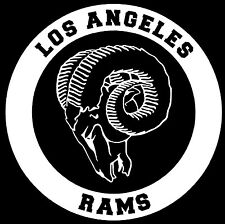 LOS ANGELES RAMS Vinyl Decal Sticker Window Wall Bumper Car White