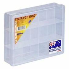 STORAGE BOX Clear Medium 14 Compartment 200x160x50mm Fischer 1H039