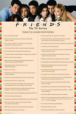 FRIENDS - THINGS I'VE LEARNED POSTER - 24x36 TV SHOW MILKSHAKES CHART LIST 52056