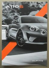 ALPINE A110S orig 2019 Sales Brochure in English French & German - A110 S