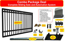 5m Combo Sliding Gate with Rings & Flood Proof Motor, Track, Wheels, Rollers