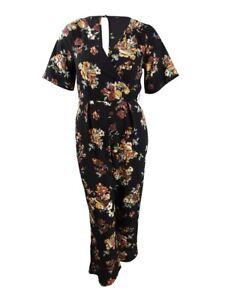Trixxi Juniors' Kimono Jumpsuit M, Black/Yellow
