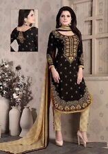Elegant Crepe Designer Printed Unstitched Dress Material Suit D.No SFD7011