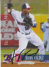 2014 Jeudy Valdez Tennessee Smokies Autograph Auto Signed RC Rookie Cubs