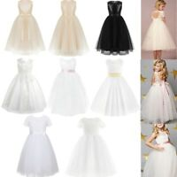 Flower Girls Dress Formal Party Wedding Bridesmaid Kids Gown Long Ball Dresses