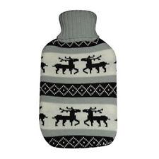 Wärmflasche - Bettflasche Gummi mit �œberzug - Elchmotiv - 2 Liter - 3 Farben