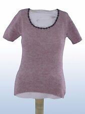 maglia maglioncino donna viola kid mohair lana MADE IN ITALY tg XS SMALL