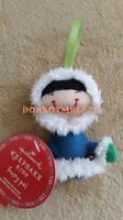Hallmark 2016 Keepsake Kids Frosty Pal Friends Eskimo Fabric Christmas Ornament