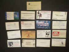 "LOT OF ""17"" BOXING BUISNESS CARDS=DUNDEE+DEJOHN+MAXIM+PACHECO+FUTCH+DUVA+ECT!!!!"