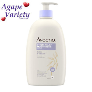 Aveeno Stress Relief Moisturizing Body Lotion with Lavender, Natural Oatmeal...