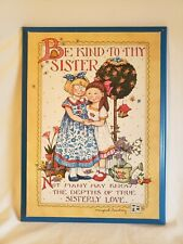 "Mary Engelbreit Be Kind To Thy Sister Picture Plaque Wall Decor 15""x 11"""