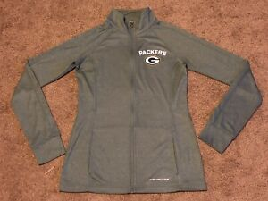 Women's Majestic Thermabase Green Bay Packers Long Sleeve Full Zip Shirt Jacket