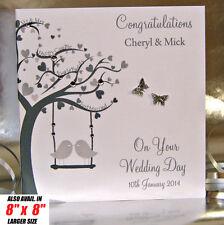 Personalised Wedding Day Congratulations Card Handmade
