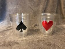 2 16 ounce Tervis Double Wall Insulated Tumblers Heart and Spade
