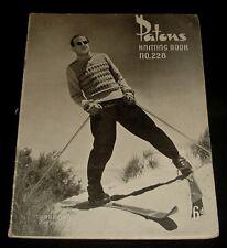 VINTAGE 1940s PATONS KNITTING BOOK # 228  MENS TOPS , JUMPERS , VESTS