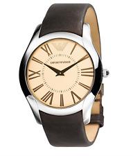 Emporio Armani Watches AR2041 Mens Super Slim Brown Watch 5311