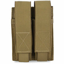 Bulldog MOLLE Double Pistol Military Glock Sig 9mm Mag Magazine Pouch Coyote Tan