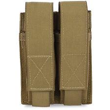 Bulldog MOLLE Double Pistol Military Army Modular Mag Magazine Pouch Coyote Tan