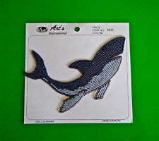 Vintage Gray Whale Seed Bead Applique 1990's New