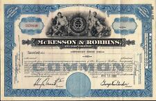 Stock certificate McKesson & Robbins, Inc, 1950s State of Maryland