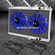 "2-ROW ALUMINUM RADIATOR+2X 10""FAN BLUE FOR 94-01 ACURA INTEGRA GS RS DB GSR DC2"