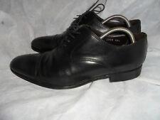 To Boot New York Adam Derrick Scarpa in pelle nera Taglia UK 10 EU 44 US 10.5 in buonissima condizione